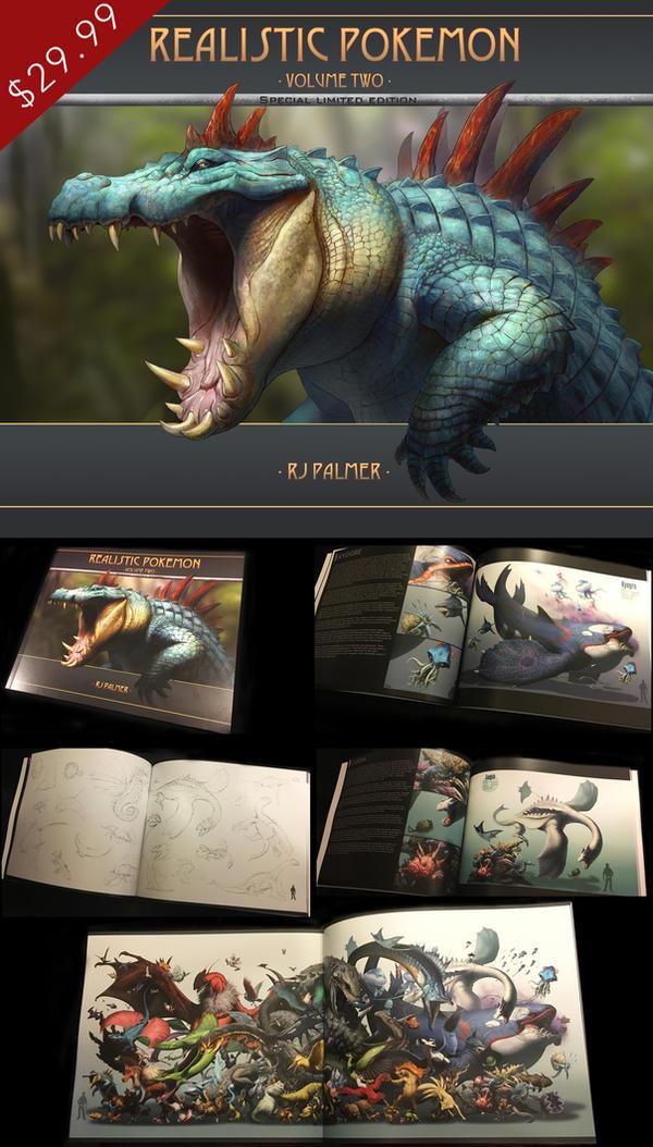 Realistic Pokemon-Volume Two Art Book by arvalis