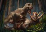 -T. rex vs Triceratops-