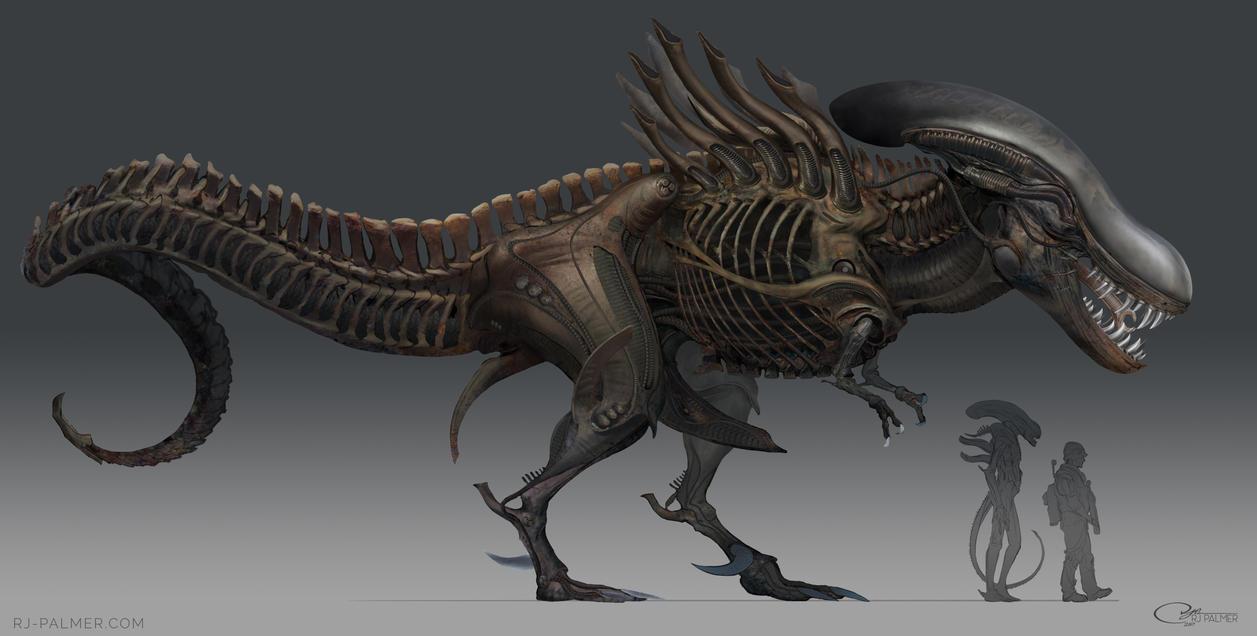 alien t rex by arvalis on deviantart