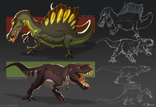Animation Styled Dinos