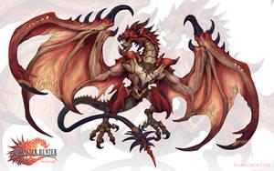 Final Fantasy-Rathalos by arvalis