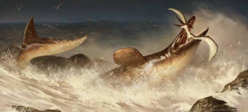 Tylosaurus by arvalis