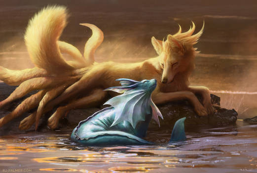 -Vaporeon and Ninetales-