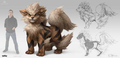 Detective Pikachu - Arcanine by arvalis