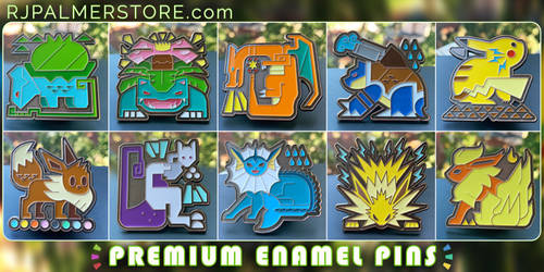 Pokemonster Hunter Enamel Pins