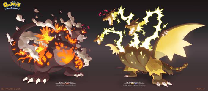 G-max Godzilla vs G-Max Ghidorah