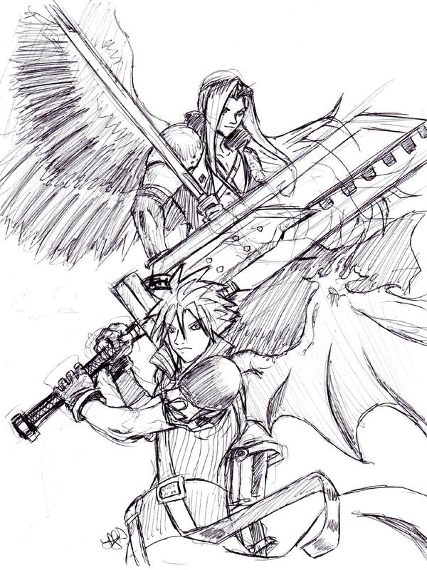 FFVII: The Angel and the Blade by arvalis