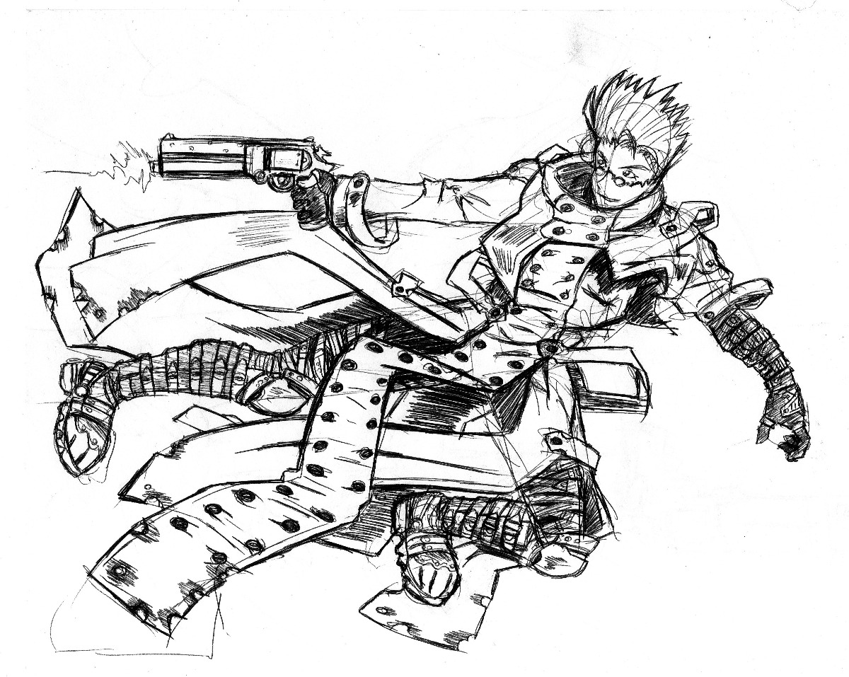 trigun coloring pages | Vash the Stampede by arvalis on DeviantArt