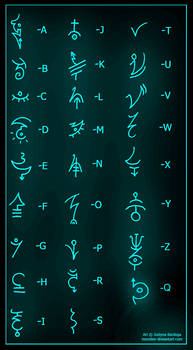 Ancient Symbols by monstee