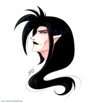 Dark Rayerth OC Headshot