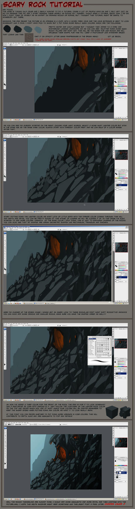 Rocky Cliff Tutorial by tokuku
