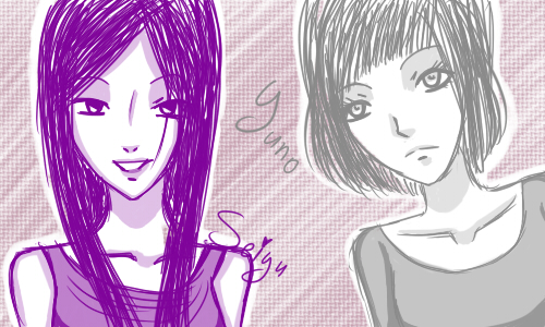 Seiyu and Yuno by yuuuno