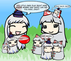 Walfas: Keine and Mokou Family by Dimensional-Expander