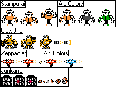 Clamp Man Stage Enemies by Dimensional-Expander