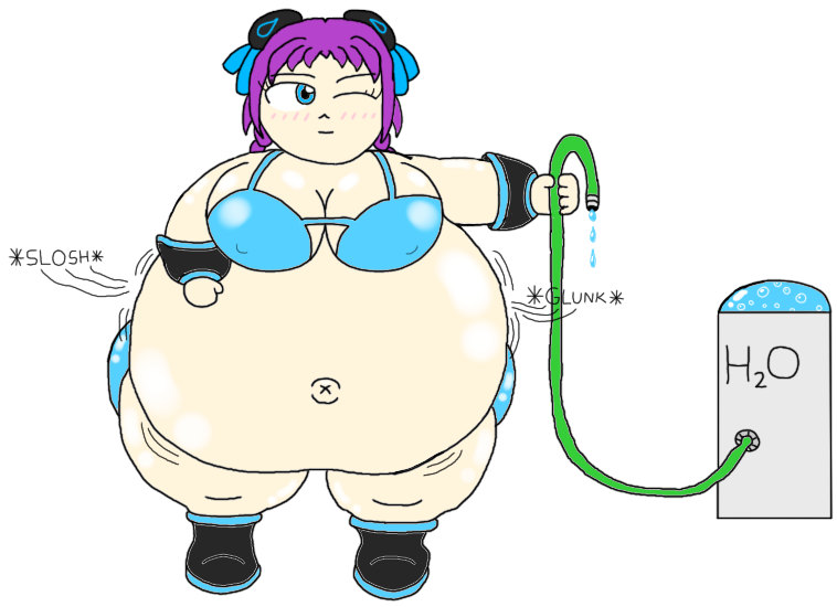 Girl Inflates Belly