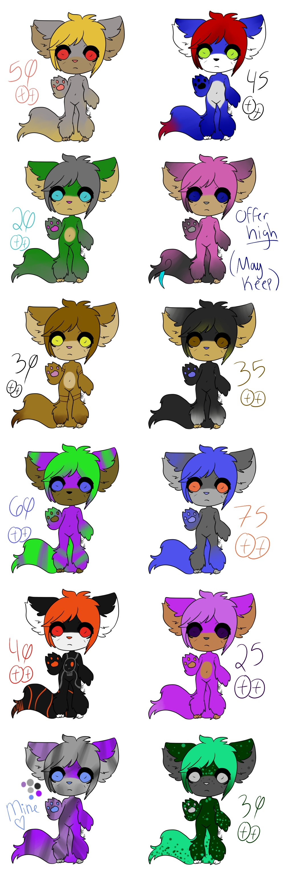 Adoptable Cluster! (PRICES REDUCEDDDD) by XxLuciferStarxX