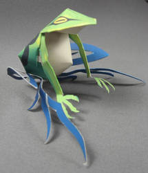 frog niose WEWY paper craft