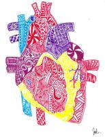 Zentangle Heart by Imprensibilis