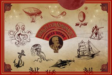 Les Voyages Extraordinaires de Jules Verne by Vantik