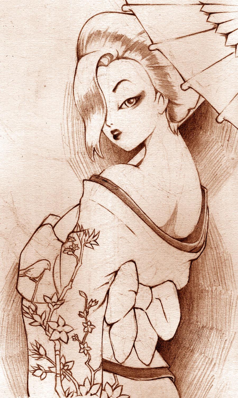 jessica rabbit geisha by jtmon on deviantart