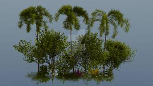 Tropical foliage WIP8