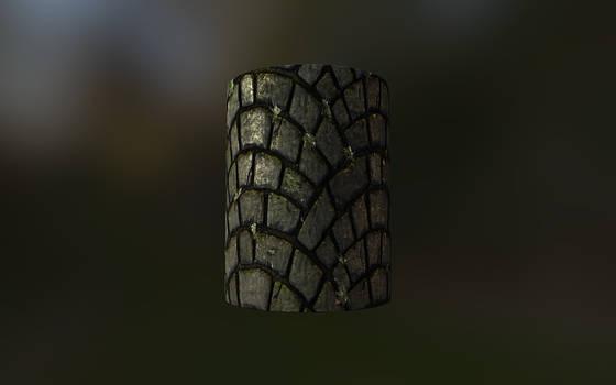 Tileable Stone Fan Pattern Texture