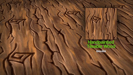 Handpainted Tileable Wood Texture