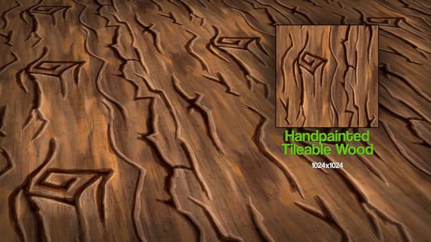 Handpainted Tileable Wood Texture