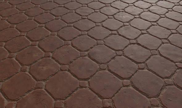 Testing Quixel Mixer: Brick Floor 01
