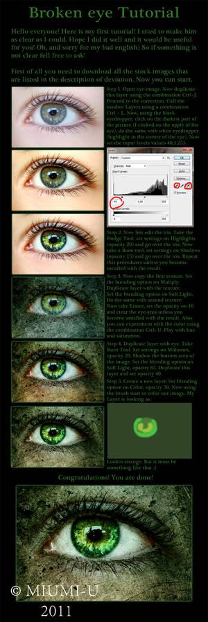Broken eye tutorial
