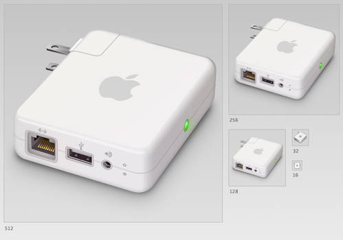 Airport Express -PSD Included-