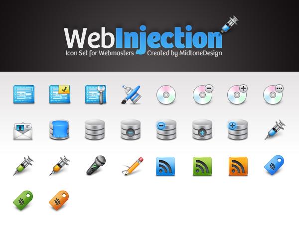 WebInjection FREE iconpack by DDrDark