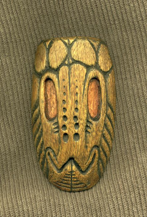 Grasshopper Spiritmask Pendant by DonSimpson