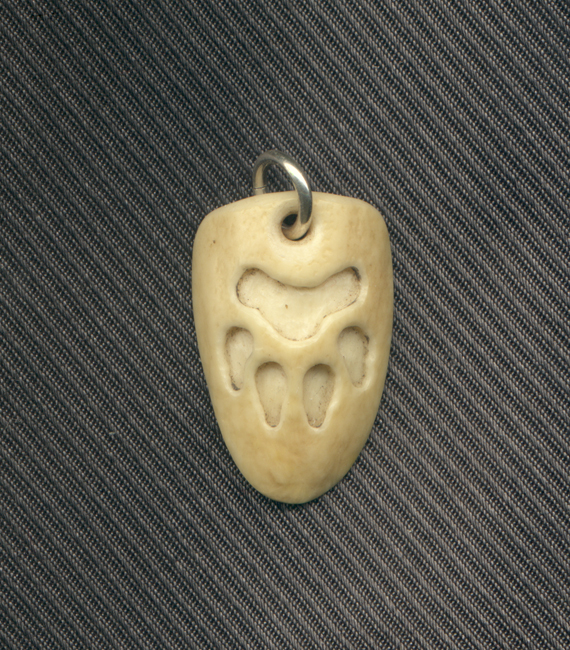 Wolf Pawprint Pendant X1 by DonSimpson