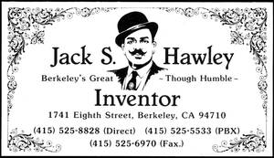 Jack Hawley Business Card