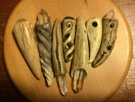 Seven Antler Pendants by DonSimpson