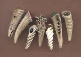 Seven More Antler Pendants