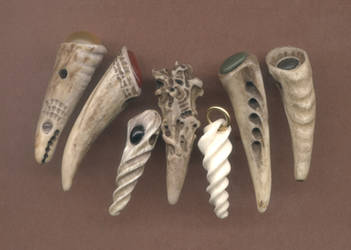 Seven More Antler Pendants by DonSimpson