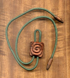 Wood Spiral Bolo Tie
