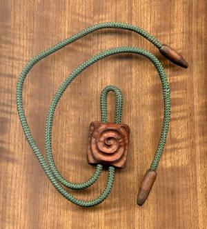 Wood Spiral Bolo Tie