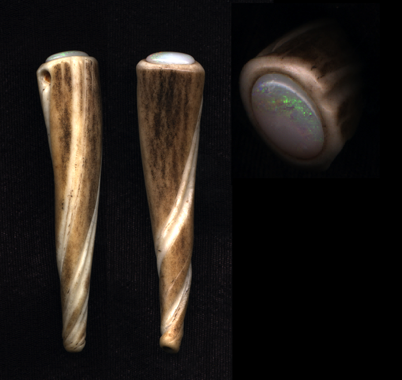 Antler Twist with opal