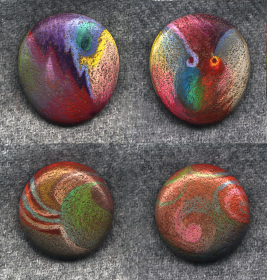 Two painted rocks by donsimpson on deviantart for Spray paint rocks for garden