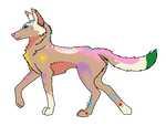 Spring wolf by TyshellFroufrou