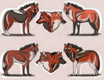 sand wolves by TyshellFroufrou