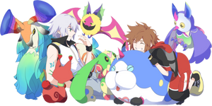 Kingdom Hearts ~ Dream Drop Distance - Render by Uchiwa208