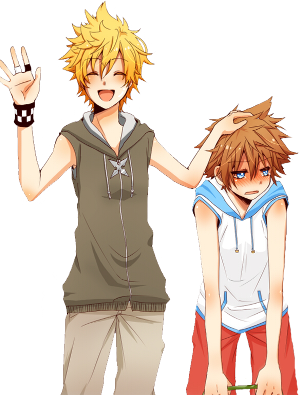 Roxas and Sora - Render by Uchiwa208
