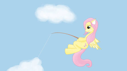 Fluttershy Cloud Fishing by FenLlas