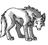 :FREE Pixel Wolf Base: by h4lloween