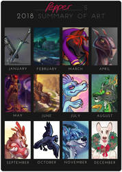 2018 Summary of Art by Pepper-Head