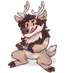 The Gaming Fluffy Reindeer by Pepper-Head